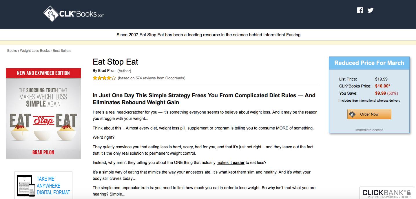 Eat Stop Eat Website